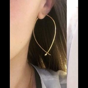 Stella & Dot Hammered Wire Gold Hoops